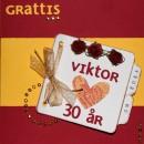 Grattiskort till Viktor 30 år framsida