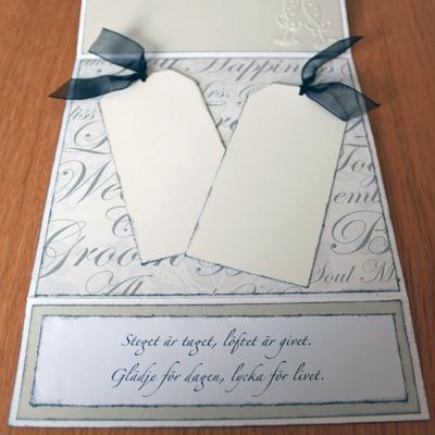 Bröllopskort till Maud och Leif - citat/ordspråk