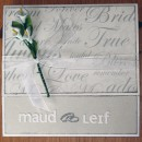 Bröllopskort till Maud och Leif - framsidan av kortet