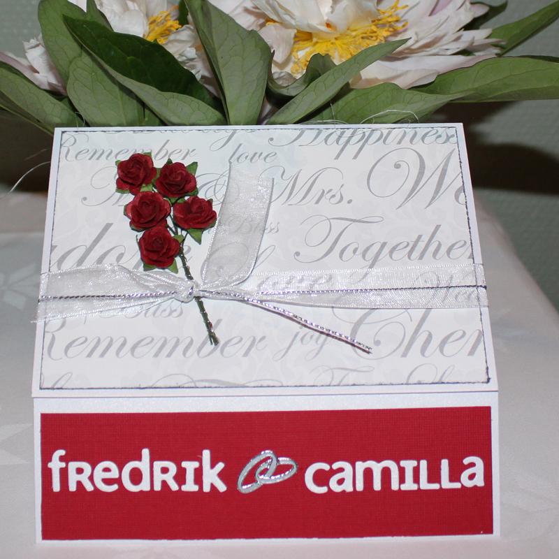 Bröllopskort till Fredrik och Camilla