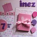 Grattiskort till Inez 7år - Framsidan
