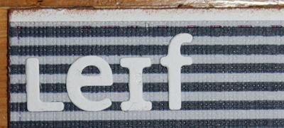Grattiskort till Leif 60år - närbild på texten Leif