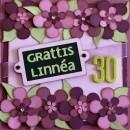 Grattiskort till Linnéa 30 år - framsidan av kortet