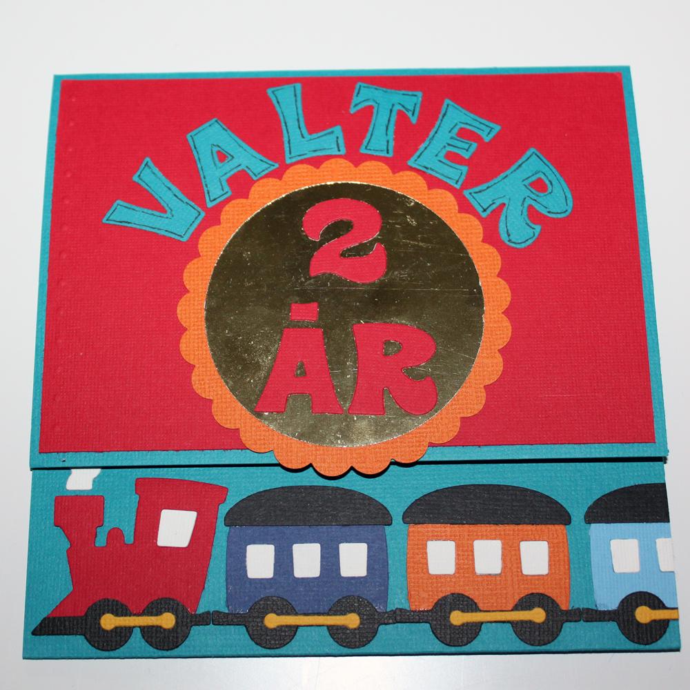 Grattiskort till Valter 2 år