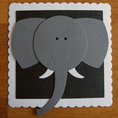 Memorybricka, elefant