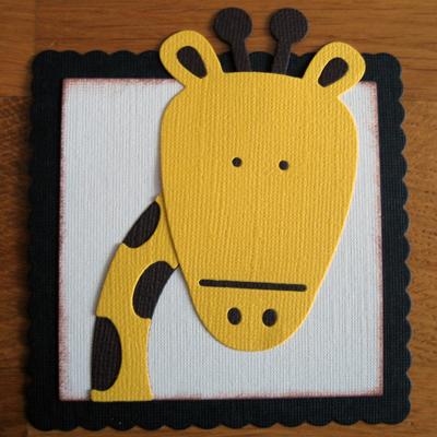 Memorybricka, giraff