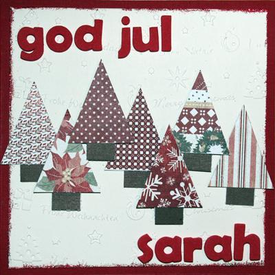Presentkort - God Jul - framsidan av kortet
