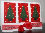 Julkort - Rött, vitt och grönt