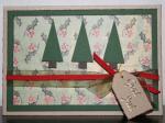 Julkort i dova toner i grönt