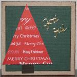 Julkort med textgran och peel-off-stickers