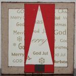Julkort i guld med textgran i guld