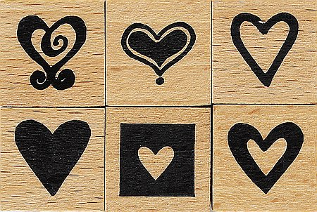 Stämpelsats små hjärtan