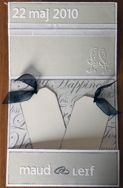 Bröllopskort till Maud och Leif