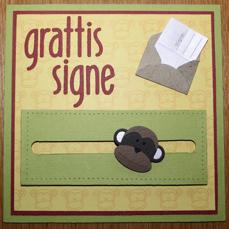 Grattiskort till Signe 1 år